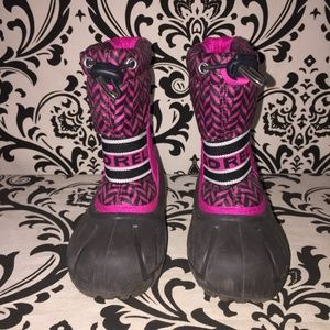 Sorel Shoes - Pink & Black Sorel Snow Winter Boots Girls Size 10